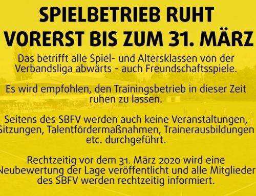 Achtung !! Wichtige Information zum Spielbetrieb !!!